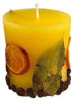 Candle cylinder Potpourri Fruechte (fruits) lemon
