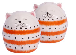 Hannes Cat as salt and pepper shaker, orange 5,0cm