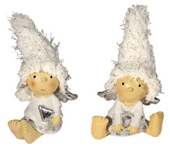 Couple of angels sitting, with hat
