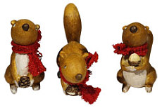 Set of 3 squirrels