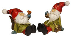 Santa set of 2, sitting