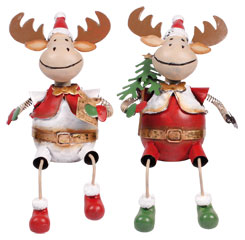 Reindeer from metal Hege edge sitter red-white