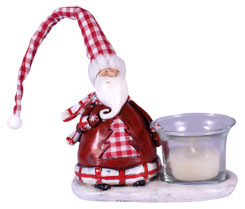 Tealight holder Santa